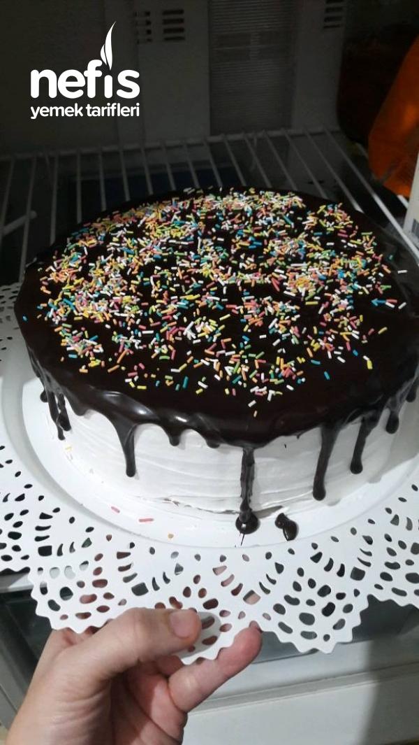 Yaş Pasta Görünümlü Bisküvi Pastası
