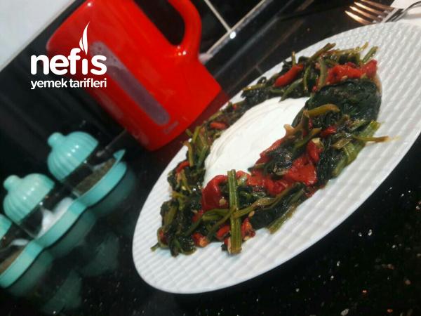 Ispanaklı Köz Biber Salatası