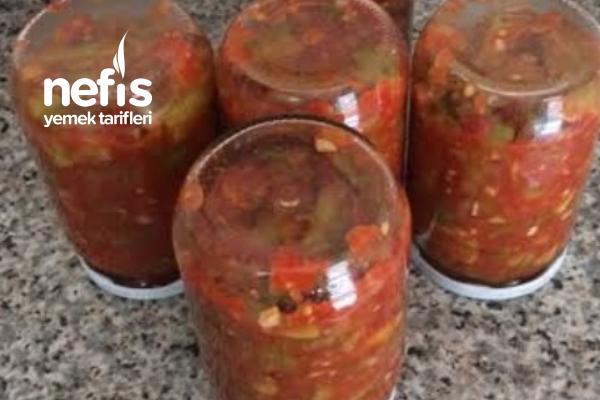 Kışlık Patlıcanlı Sos Salata Tarifi