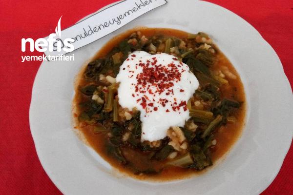 Bulgurlu Pirinçli Ispanak Yemeği Tarifi