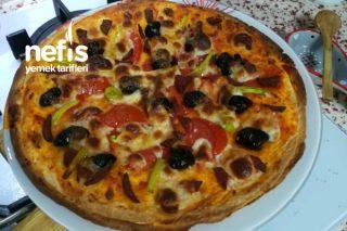 Hazır Lavaştan Kolay Pizza Tarifi