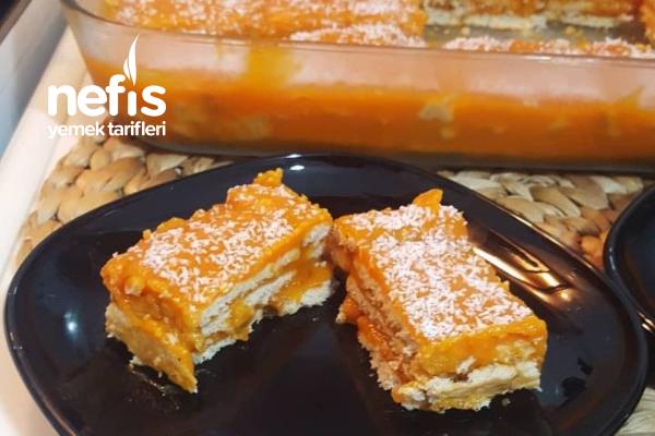 Balkabaklı Bisküvili Pasta (Videolu) Tarifi