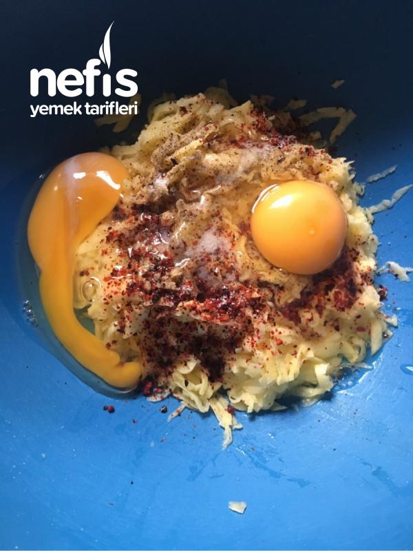 Çıtır Kahvaltılık Patatesli Yumurta (Sağlıklı Kızartma)
