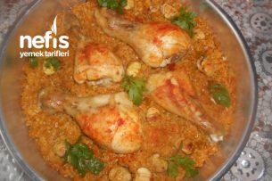 Firik Bulgurlu Kestaneli Fırında Tavuk Baget Tarifi