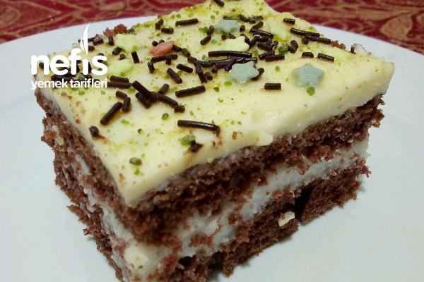 Muhallebili Muz Pudingli Pasta (Kekten) Tarifi