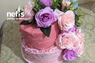2 Katlı Yaş Pasta ( Naked Cake ) Tarifi
