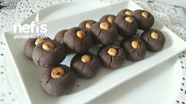 3 Malzemeli Sıvıyağlı Kakaolu Kurabiye