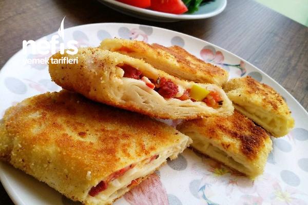 Pratik Galeta Unlu Pizza Börek (Kahvaltılık-Atıştrmalık) Tarifi