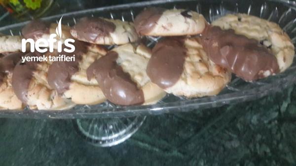 Fındıklı Damla Çikolatalı Kurabiye (Kıyır Kıyır)