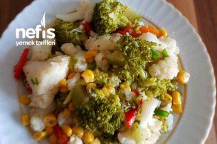 Karışık Brokoli Ve Karnabahar Salatası Tarifi
