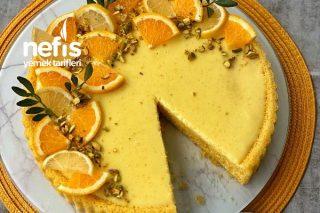 Portakalı Muhallebili Tart Kek Tarifi
