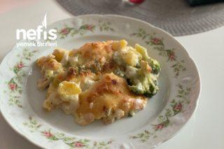 Beşamel Soslu Brokoli  Patates  ( Fırında ) Tarifi
