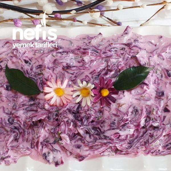 Yoğurtlu Mor Lahana Salatası(pisirilerek)