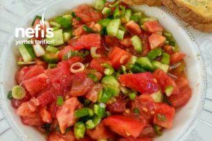Antep Usulü Kimyonlu Kahvaltılık Domates Salatası Tarifi