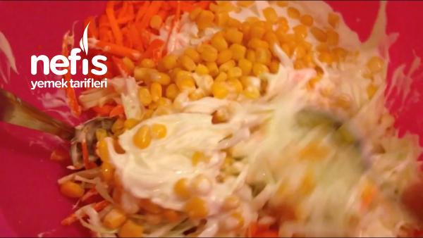 Seker Ve Sirkeyle Lezzetine Lezzet Kattigim Beyaz Lahana Salatasi