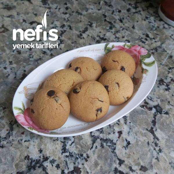 Bisküvi Tadında Çikolatalı Kurabiyeee(çocuklar Bayılacak)