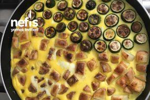 Fırında Patatesli Kabaklı Yumurta Tarifi