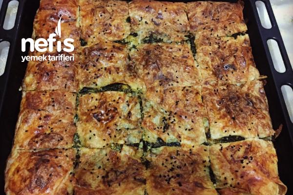 Ispanaklı Pırasalı Börek (Hazır Yufkadan) Tarifi
