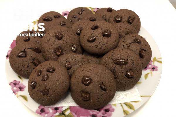 Kakaolu Çikolatalı Kurabiye (Yapması Kolay Lezzeti Olay) Tarifi