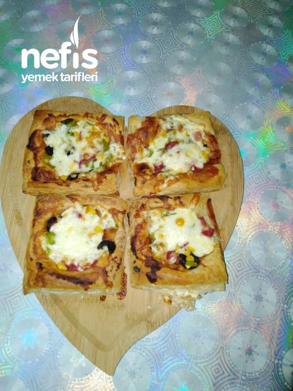 Çocuğunuzun Bayılacağı Milföy Pizza