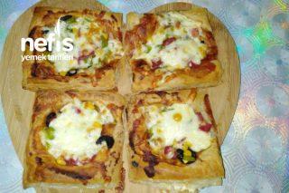 Çocuğunuzun Bayılacağı Milföy Pizza Tarifi