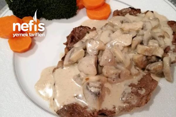 Kremalı Mantarlı Biftek Tarifi