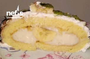 Muzlu Rulo Pasta (Pamuk Gibi Kekiyle) Tarifi