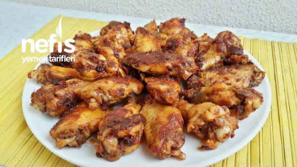 Tavada Mangal Tadında Tavuk Kanat