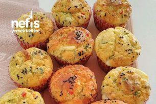 Peynirli Zeytinli Muffin Kek (Börek Tadında) Tarifi