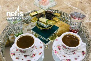 Güllü Lokum Aromalı Türk Kahvesi (Şahane Lezzet) Tarifi