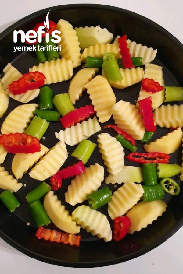 Fırında Etli Patates (Marineli)