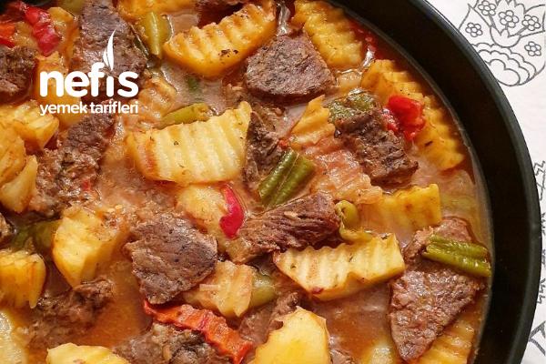 Fırında Etli Patates (Marineli) Tarifi