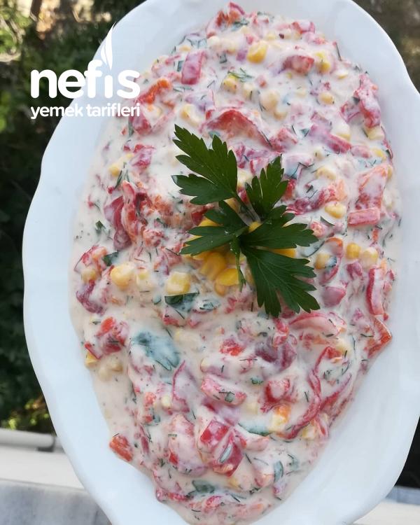 Köz Biberli Yoğurtlu Salata