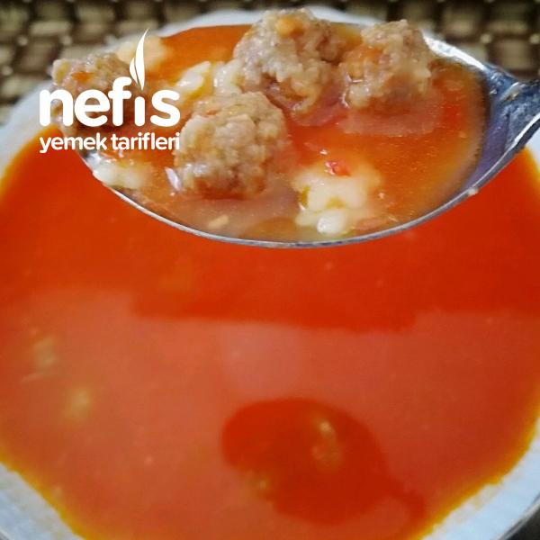 Köfteli,şehriyeli Domates çorbası