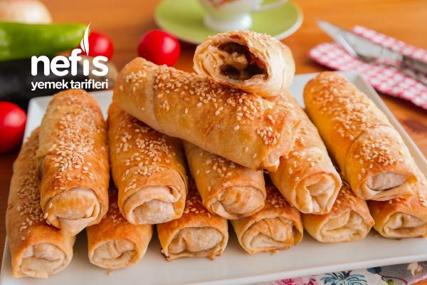 Hazır Yufka İle Yapılmış Patlıcanlı Börek (videolu)