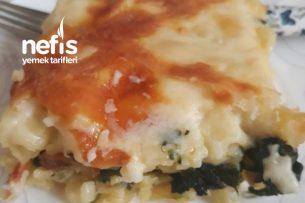 Ispanaklı Peynirli Fırın Makarna Tarifi