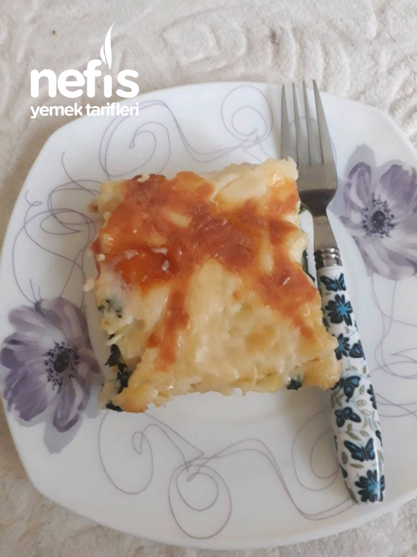 Ispanakli Peynirli Firin Makarns