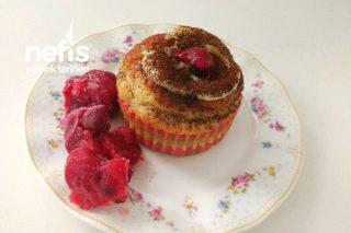 Meyveli Mini Kek (Süslü Anne Keki) (Vişneli Muzlu Elmalı Kek) Tarifi
