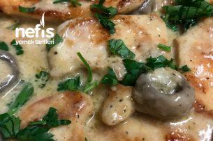 Kremalı Tavuk ( Mantarlı ) Değişik Yemek Tarifi Arayanlara