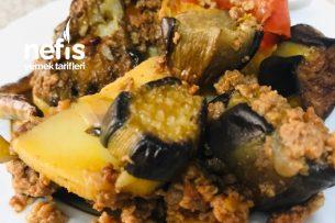 Kıymalı Patlıcanlı Fırın Yemeği Tarifi