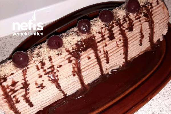 Çikolatalı Vişneli Rulo Pasta Tarifi