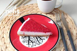 Frambuazlı Cheesecake (Pişmeyen Tarif) Tarifi