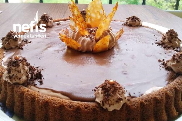 Karamelli Çikolatalı Tart Pasta Tarifi