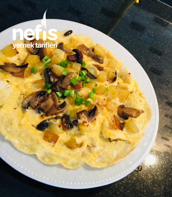 Mantarlı Patatesli Omlet