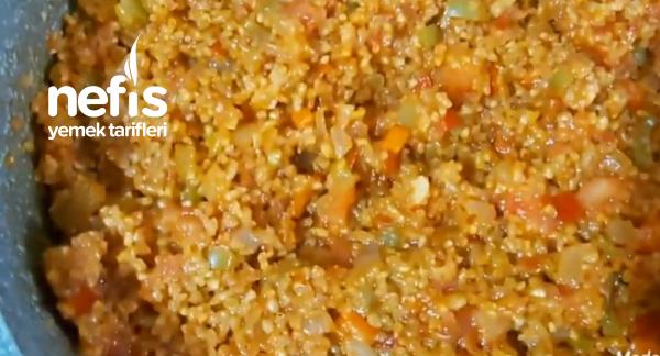 Sebzeli Bulgur Pilavı
