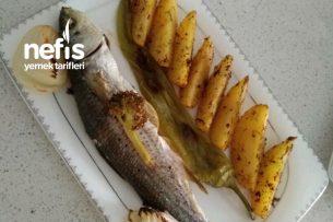 Fırında Kefal Ve Elma Dilim Patates Tarifi