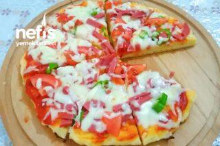 Fırınsız Pişen En Pratik Tavada 10 Dakikada Pizza Tarifi