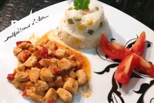 Tavuk Sote Ve Sebzeli Pirinç Pilav Tarifi