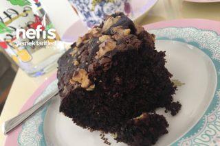 Küçük Borcamda Cevizli Damla Çikolatalı Enfes Kakaolu Kek Tarifi