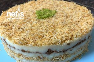 Bisküvili Kadayıflı Pasta Tarifi